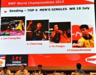 Draw Separates Lee Chong Wei and Lin Dan