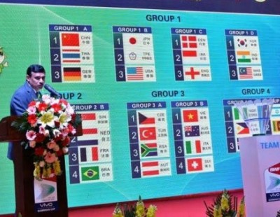 China Grouped with Germany, Thailand: Vivo BWF Sudirman Cup 2015 – Draw Ceremony