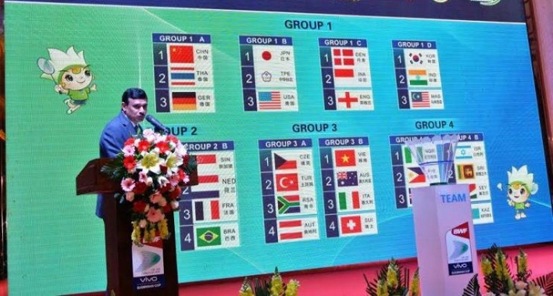 Sudirman Cup draw