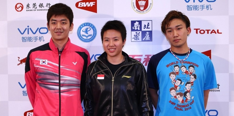 Lee Yong Dae, Liliyana Natsir and Kento Momota