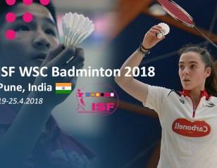 World Schools Championship Badminton from 19 April