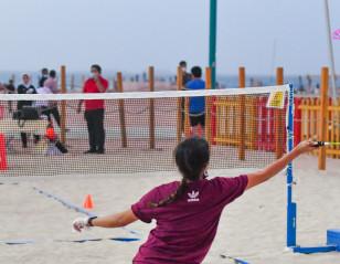 AirBadminton Makes Mark at Beach Sports Week in Dubai
