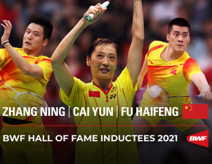 Zhang, Cai and Fu Inducted Into BWF Hall of Fame